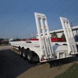 3半車軸60ton 13m低いベッドのトレーラーまたは半Lowboyのトラックのトレーラー