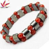 Bijou fabriqué à la main de talon d'hématite de qualité de bracelet de la mode Htb090