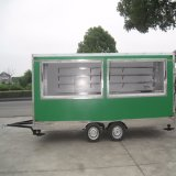 Straßen-Verkauf-Waffel-Maschinen-Joghurt-Maschinen-Zuckerwatte-Maschine verwendet in der mobilen Nahrungsmittelkarre mit Rädern