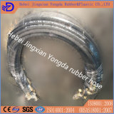 Boyau en caoutchouc hydraulique de tresse de fil pour la distribution de pétrole