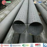 Tuyau de filtrage encoché de pipe d'acier inoxydable d'ASTM A312 avec du CE