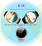 Teléfono elegante del reloj de Bluetooth de la pantalla redonda (K18)