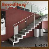 Sistema de vidro do corrimão do aço inoxidável para os trilhos de vidro da escadaria (SJ-S093)