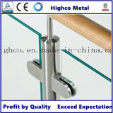 Morsetto del vetro piano di figura dell'acciaio inossidabile D per l'inferriata di vetro