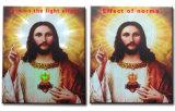 Les plus défuntes peintures à l'huile d'éclairage LED de la vente en gros 2016 sur la toile Jésus