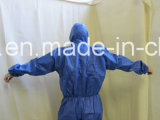 Weißer Wegwerfoverall, Staub-Spray-Klage, nichtgewebte staubdichte Kleidung