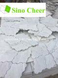 Mosaico de mármore branco de Carrara, mosaico de pedra de mármore branco com engranzamento traseiro