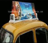 쉬운 최신 판매 택시 최고 광고 LED 가벼운 상자를 설치하십시오