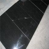 Marmo nero Polished di Nero Marquina della stanza da bagno di disegno di lusso delle mattonelle