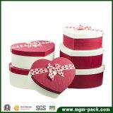 Оптовым изготовленный на заказ напечатанная логосом коробка сердца форменный бумажная