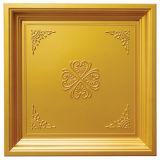 O olhar 3D da telha do ouro FRP Waterproof o painel de parede