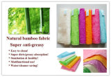 Tecido de bambu natural Anti Grease Dishcloths Cleaning Kitchen Factory de produtos
