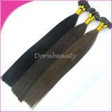 Pelo Pre-Consolidado del clavo de la Virgen de las extensiones brasileñas del pelo