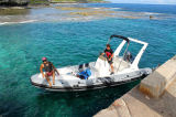 Aqualand 21feet 6.45m Rigid Inflatable Fishing Boat 또는 Rib Motor Boat (RIB650C)