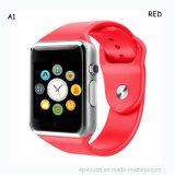 Teléfono elegante vendedor caliente A1 del reloj de la pantalla colorida de la viruta Mtk6261