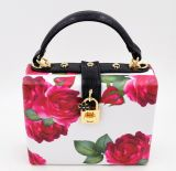 Womens Faux Leather Printing Pattern Fashion Clutch Tote (LD-3028)