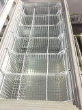 Congélateur de poitrine d'étalage de crême glacée de porte en verre Tempered (SD-350)
