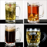 Hohe Kapazitäts-u. Qualitätsglasbier-Becher-Cup mit verschiedener Art