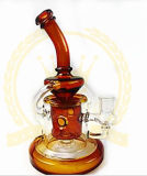 コロナのReycler 12inch 5mm厚く最も新しいデザイン煙る管のKleinの再資源業者の卵の管のFabbの装備のHeadshopの管の氷は灰のキャッチャーの赤いガラス配水管にノッチを付ける