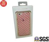El rectángulo de empaquetado de la caja de encargo al por mayor del teléfono, rectángulo con la ventana y graba, Oro-Estampando