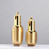 bottiglia acrilica di plastica cosmetica a forma di della lozione della parte superiore dell'oro di alta qualità di 30ml 60ml 100ml