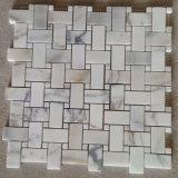 Плитка мозаики Calacatta мраморный каменная