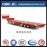 Cimc Huajun 3axle 17.5m Lowbed Semi-Trailer mit Platform auf Gooseneck