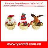 Panier de fleur de panier en osier de Noël de panier de cadeau de Kep de Noël de la décoration de Noël (ZY11S84-1-2)