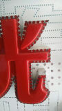 La muestra popular del gran escala LED mueve la dobladora de la carta de canal