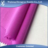 Tela de cuatro terminales tejida Elastane impermeable suave de la ropa del estiramiento del poliester 150d+40d