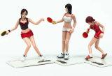 Figura plástica figura do esporte do tênis de tabela. Brinquedos do PVC
