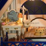 Симпатичный модельный деревянный Dollhouse игрушки DIY Yizhi с мебелью