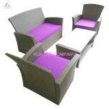 Divan sectionnel de l'arrière-cour Hz-Bt137 de rotin de patio de sofa en osier extérieur de meubles réglé - mer bleue