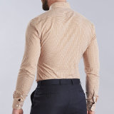 Chemise mince d'hommes de POINT des chemises 2016 d'ajustement de chemise de circuit de modèle de mode