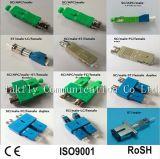 LC-St, Sc-FC, St-Sc, Sc-LC, FC-LC, FC-St Male à Fibra Óptica da Manutenção Programada Milímetro Duplex de Female Hybrid Adapter