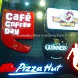 La lumière acrylique Box/LED de signe d'affichage ovale annonçant le Signage