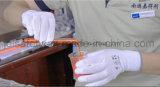 Серая перчатка безопасности работы при покрынный PU (PN8002)