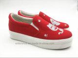 Симпатичная обувь холстины отдыха женщин шаржа на весна (ET-OW160119W)