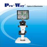Microscope stéréo de Digitals de zoom visuel professionnel d'écran LCD (ZTX-PW6745LCD)