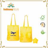 Sacchetto di acquisto di nylon piegante poco costoso impermeabile riciclato del poliestere di Eco con il sacchetto della stella