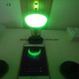 luz de bulbo elegante de WiFi RGBW LED del shell de aluminio 7W