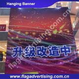 Tela feita sob encomenda da impressão de alta resolução que anuncia a bandeira ao ar livre