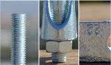 Galvanzied formbare Drahtseil-Schelle DIN741