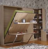 Sepsion Vertical Tilting Simple Murphy Wall Bed Chambre Lit avec Table de bureau et étagère Fj-22