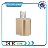 Заряжатель стены USB универсалии 3 заряжателя 3.1A перемещения USB Port для черни