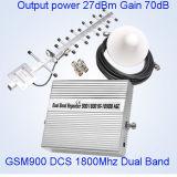 GSM a due bande 900 1800 ripetitori mobili di servizi telefonici delle cellule dell'amplificatore del segnale del ripetitore