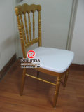 Fabricação White Napoleon Folding Chair for Party Rental