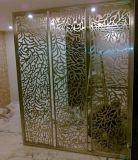 Modèles d'écran décoratifs d'intérieur de pièce de coupure de laser d'acier inoxydable de couleur