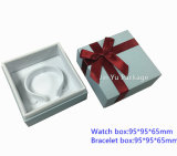 Caisse d'emballage blanche d'étalage de mémoire de bijou de cadeau de papier de carton