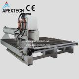 2030-3 ranurador de madera del CNC de la carpintería del Atc de los ejes de rotación que talla la máquina